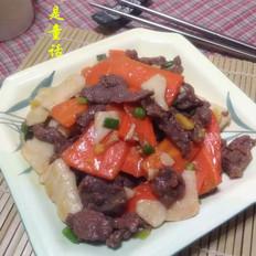 胡萝卜山药炒牛肉