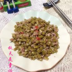 肉沫炒酸豆角