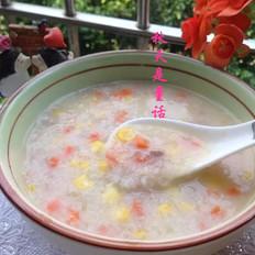 玉米胡萝卜肉蓉粥