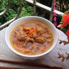 鲜虫草花肉片汤