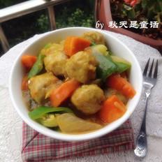 咖喱杂蔬鱼丸