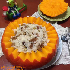 南瓜杂粮饭