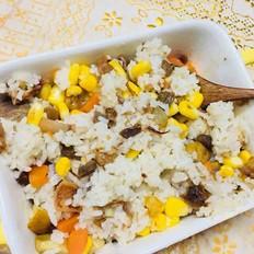板栗玉米炒饭