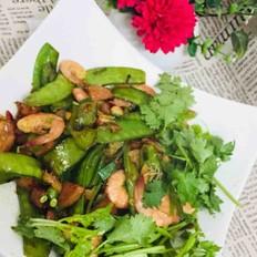 鲜虾瘦肉炒荷兰豆