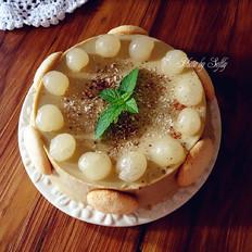 焦糖咖啡龙眼慕斯蛋糕