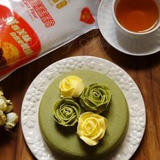 抹茶蒸蛋糕