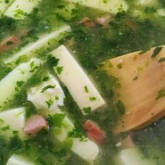 菠菜豆腐火腿汤