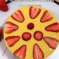 芒果草莓蛋糕,免烤箱,低脂低糖