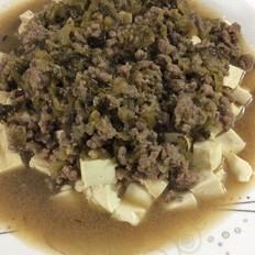 酸菜牛肉盖豆腐