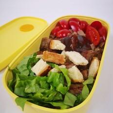 牛排吐司沙拉