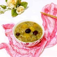 南瓜红枣绿豆粥