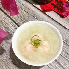 白萝卜虾丸汤