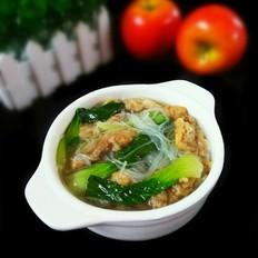 青菜粉丝酥肉汤的做法