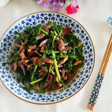 鸭胗炒韭菜