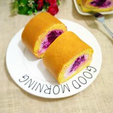火龙果奶油蛋糕卷