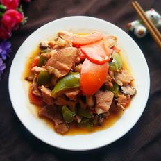 肉片炒杂蔬