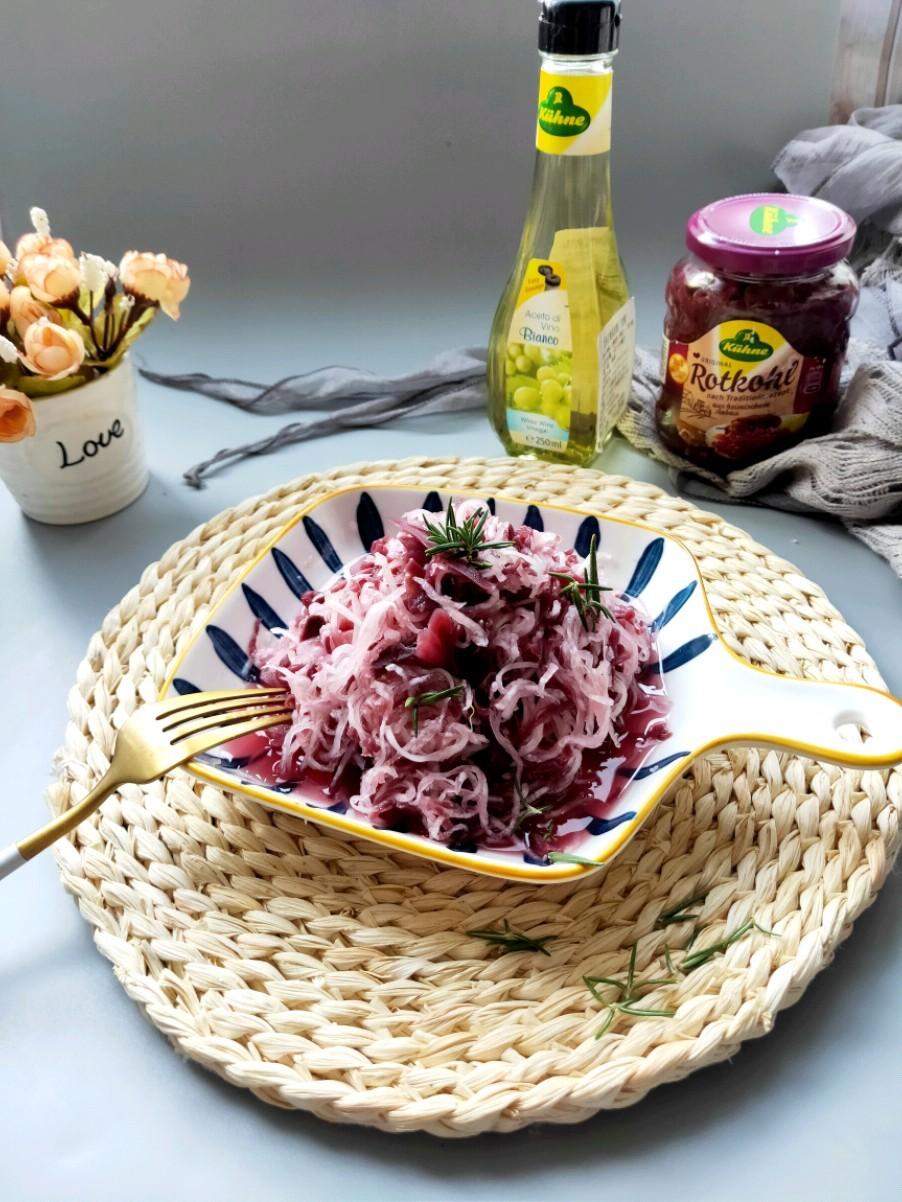 酸甜脆爽的红椰菜萝卜丝的做法