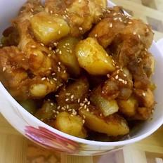 土豆炖美味翅根