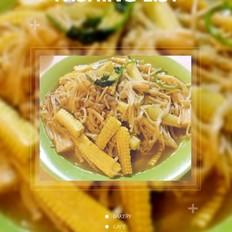 小玉米金针菇炒肉(黄金条)