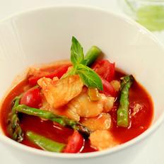 芦笋番茄鱼块