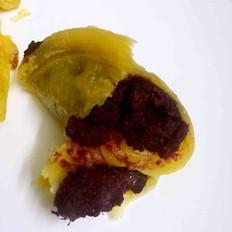 酥皮紫薯、枣泥、蜜豆的做法