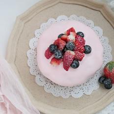 圣诞草莓雪顶蛋糕