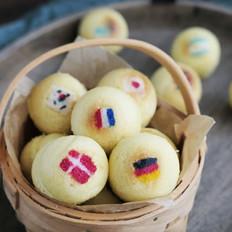 世界杯彩绘蛋糕球