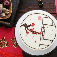 红梅争春蛋糕