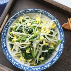 菠菜拌黄豆芽