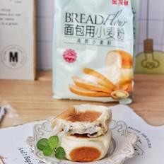 红豆麻薯面包