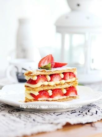 草莓拿破仑酥的做法