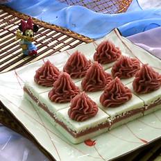红曲芋泥山药糕