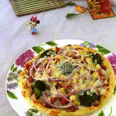 胡萝卜西兰花批萨