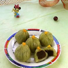 绿豆蓉抹茶茶巾绞