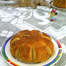 杏仁红糖面包