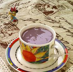 紫薯黑黄豆浆