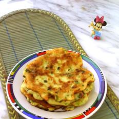 葱香鸡蛋山药饼