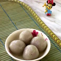 紫薯玫瑰芝麻汤圆