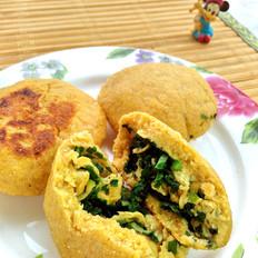韭菜鸡蛋玉米饼