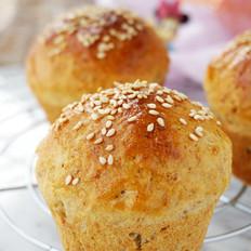 菠萝蜜核芝麻全麦面包