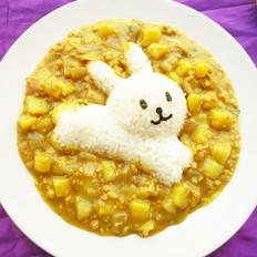 咖喱土豆小兔子饭