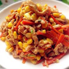 玉米粒炒鸡丝