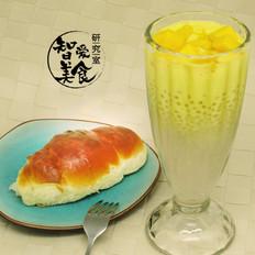 微波炉饮品——芒果椰汁西米露