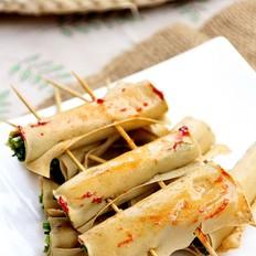 香烤豆皮卷韭菜