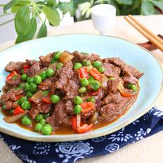 豌豆仁炒牛肉的做法