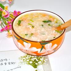宝宝辅食--火腿大虾粥