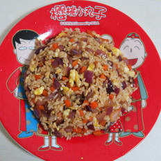 洋葱头炒米饭