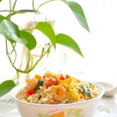 小白菜虾仁蛋炒饭