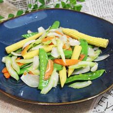 7点早餐|一道五彩时蔬,因为这个食材还能养心安神,润肺止咳