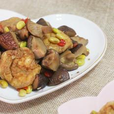 香菇毛豆油面筋